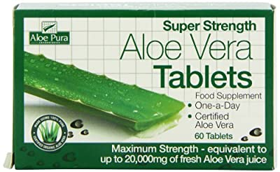 Optima Health Aloe Pura Super Strength Aloe Vera 60 Tablets from Optima Health