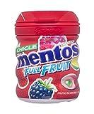 Mentos Chicle Sin Azúcar Full Fruit Bote con Sabor a Frutas Silvestres : 60 gramos