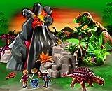 PLAYMOBIL® Dinosaurier - Komplett Set 5230 + 5231 + 5232 + 5233 + 5234 + 5235 + 5236 + 5237 T-Rex - Brachiosaurus - Stegosaurus - Velociraptor-Angriff - Dimetrodon - Forscherfahrzeug - Dinoforscher