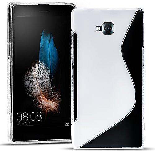 Conie SC15471 S Line Case Kompatibel mit LG G Pro Lite, TPU Smartphone Hülle Transparent Matt rutschfeste Oberfläche für G Pro Lite Rückseite Design Clear