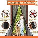 Magnet Fliegengitter Tür Insektenschutz, Fliegen Gitter Türvorhang Magnetic Moskito Netz, Wohnzimmertür, Schiebetür, Ohne Bohren, von VOYAGO (120x220 CM)