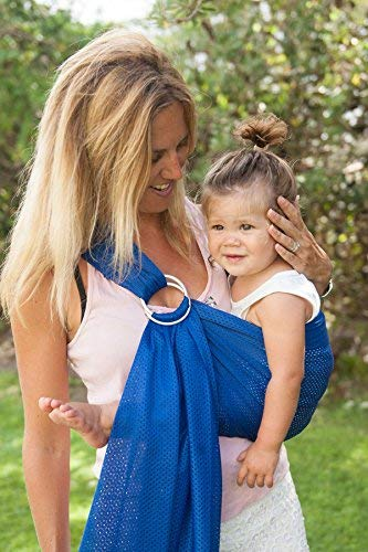 Sukkiri Adjustable Ring Sling Baby Carrier, Bright Blue  Baby Rug