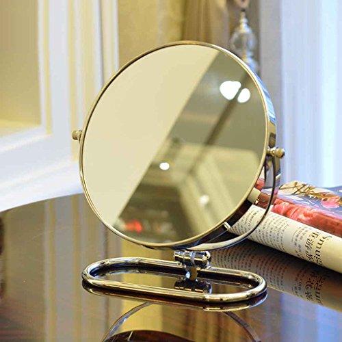 Miroirs de Bureau Pliant de Maquillage Mural à Double Face Grand Portable portatif 3X Zoom-in Pliant Mural 360 (Taille : 6 inches)