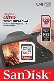 SanDisk Ultra SDXC I 128 GB bis zu 80 MB/Sek, Class 10 Speicherkarte [Frustfreie Verpackung]