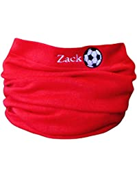 Boys & Girls Personalised Name & Football Winter Neck Scarf Snood