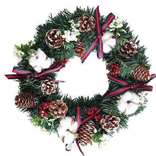 Uzinb Runde Weihnachtshaustür Kranz Greenery Garland Ornament Home Office-Partei-Festival-Dekorationen -