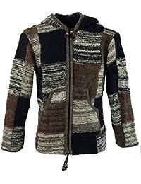 Strickjacke Wolljacke Nepaljacke / Strickjacken und Ponchos, alternative Bekleidung von Guru-Shop