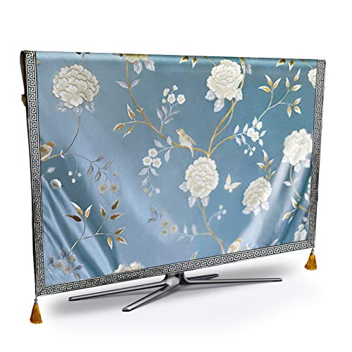 STARKWALL Tv Dust Cover Luxury Flower Weatherproof Dust-Proof Protect LCD Led Plasma Television Tissue Table Runner Cloth Cushion Cover 32