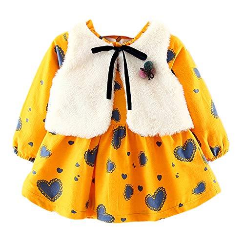 (Baby Junge Kleidung Outfit, Honestyi Infant Baby Mädchen Sunflower Print Sleeveless rückenfreies Blumenkleid Outfits (Weiß,120))