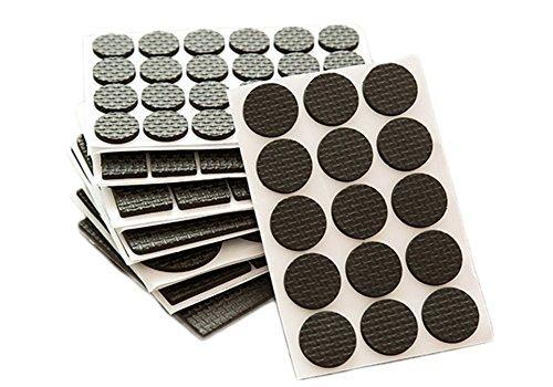 Dosige Filzgleiter/ Möbelgleiter Selbstklebend Stuhlgleiter Bodenschutz Kratzschutz, Rund, Schwarz 30 Stück