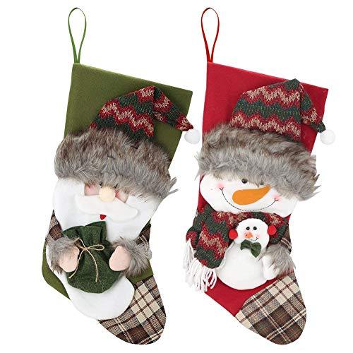 Tatuer 2 PCS Weihnachtsschmuck, Weihnachtsanhänger,Socken die Geschenke,Weihnachtssocken