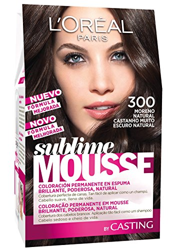 L'Oréal Paris Sublime Mousse Coloración Permanente, Tono: 300 Moreno Natural