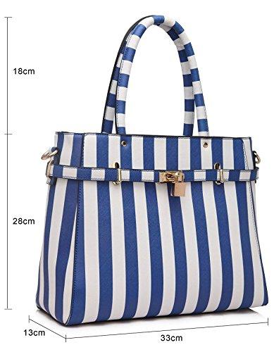 Big Handbag Shop - Sacchetto donna (Orange - White (ST432))
