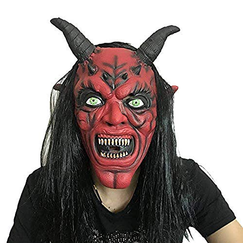 Kostüm Haar Gruselige Puppe - Latex Maske Horror Maske für Halloween Cosplay Partei-Kostüm-Abendkleid,Gruselige Maske
