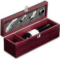 Caja regalo para botella con 4 accesorios vino
