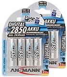 ANSMANN Mignon AA Akku Typ 2850mAh NiMH hochkapazitiv Profi Digital Kamera-Akkubatterie (8er Pack)