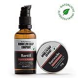 Bartpflege-Set: Groom&Style ✔ bestehend aus Bartöl (50 ml) und Bartwachs (20 g) ✔ Naturkosmetik der BROOKLYN SOAP COMPANY Geschenkidee als Geschenk für Männer - Bartstyling von Vollbart, 3-Tage-Bart