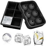 Ecoki Jumbo Eiswürfelformen, Silikon XXL Eiswürfelform, Silikon Eiskugelform - Ohne BPA, Big Size Ice Ball, für Kinder Pudding Milch Saft, für Erwachsene Bier Cocktails Whisky - MEHRWEG
