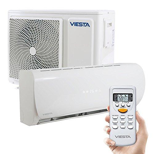 Viesta Klimaanlage AC09 energiesparendes Klima Splitgerät - 9000 BTU für Räume bis 32qm - angenehm leise - Timer- und Entfeuchter-Funktion - weiß