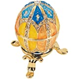 Image of Design Toscano Grand Duchess Collection Faberge Style Enameled Egg - Nikolaevna - Comparsion Tool
