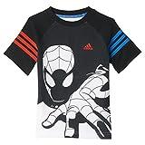 adidas Kinder T-Shirt LK DY SM CO T, Schwarz/Weiβ/Rot/Blau, 92, 4055017489979