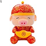 FeiyanfyQ 2019 Schweinchen Neujahr China Kleid Maskottchen Tang Anzug Spielzeug Party Dekoration Reichtum Geschenk 1