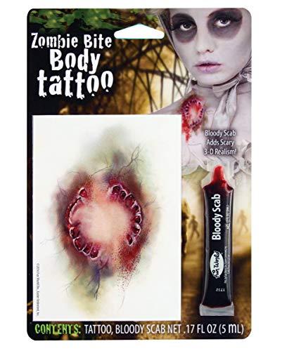 Bisswunde Tattoo mit Kunstblut
