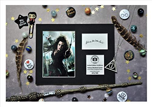Helena Bonham Carter firmado autógrafo pantalla–Bellatrix Lestrange–Harry Potter–Montado y listo para ser enmarcado