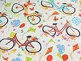 Timeless Treasures Fahrräder Quilting Stoff