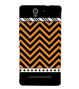 Fiobs Designer Back Case Cover for Sony Xperia C3 Dual :: Sony Xperia C3 Dual D2502 (Multicolor Multipattern Zigzag)