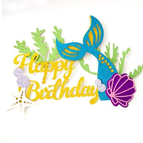 1Set Papier-Kuchen-Deckel Mermaid Party-Prinzessin Babyparty-Mädchen-Geburtstags-Party für Kinder Seashell Seestern