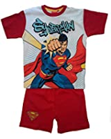 SUPERMAN SHORT PYJAMAS PJS Boys Genuine Character Cotton Ages 4 - 9 Years