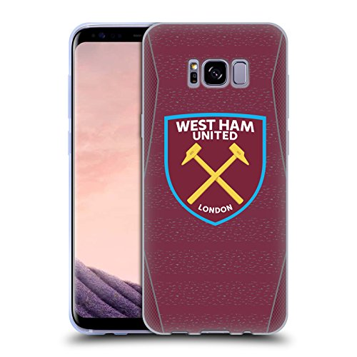 Head Case Designs Offizielle West Ham United FC Home 2018/19 Crest Kit Soft Gel Huelle kompatibel mit Samsung Galaxy S8+ / S8 Plus - Soft Case Kit