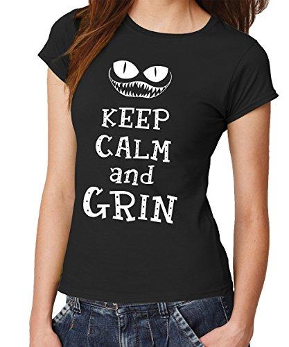 n -- Girls T-Shirt Schwarz, Größe S (Original Mad Hatter)