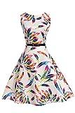 MisShow- Kinder Sommer Prinzessin kleid im 50er-Jahre-Stil 130cm