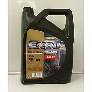 EXOIL-huile EXOIL5W30 C2 spéc.FAP 5L