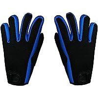 Vococal - Natación Surf Deportes Paddle Pádel/Guantes Fingerless Neopreno Palmeados Aletas de Formación para Hombr Adultos (Azul,L)