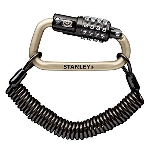 Stanley 4 Digit Karabinerschloss inklusive 180cm Kabel in silber