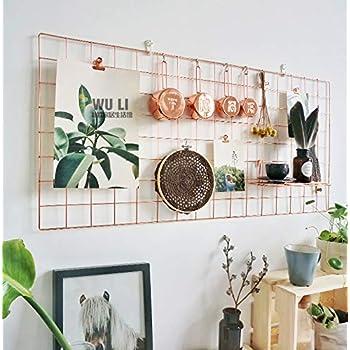 ANZOME Wandgitter, Gitter Pinnwand Dekoration mit 6 S
