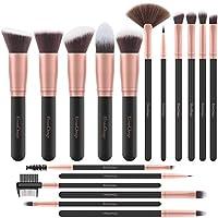 EmaxDesign Pinceaux Maquillage Professionnel 17 pièces Cosmétique Pinceaux Kit pour liquide Poudre crème Fusion de fond...