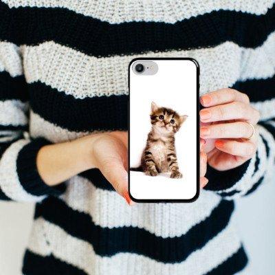 Apple iPhone 5c Hülle Premium Case Cover Katze Katzenbaby Kätzchen Kitten Hard Case schwarz