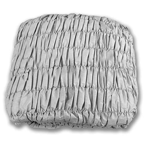 Confezioni.giuliana copridivano angolare universale arricciato grigio melange 5 posti