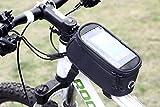 Sacoche de vélo pour Smartphone avec écran en PVC Sacoche vélo Cadre & Support & imperméable & & Route/VTT/Cycle de roue Cross/Cross/Housse Sacoche de vélo de Navigation GPS gation/Tube supérieur L noir