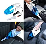 #8: FreshDcart Mini 12-V Portable Car Vaccum Multipurpose Cleaner for Handheld Electric Vacuum/Blowing, Sucking, Dust Cleaning, Dry Cleaning (Color-White)