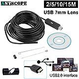 HITSAN Antscope Usb Endoscope Camera 2m 5m 10m 15m Snake Tube Mini Usb Borescope Inspection Camera For Pc Inspection Endoscopic Camera