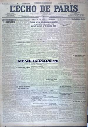 ECHO DE PARIS (L') [No 12130] du 01/11/1917
