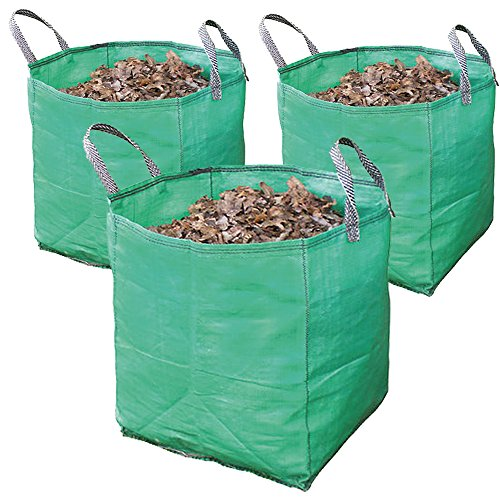 Spares2go Large Extra Strong Garden Waste Rubbish Bag Sack (120 Litre, Pack of 3)
