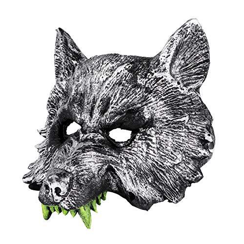Gray Wolf Kostüm - STOBOK NUOLUX Gray Wolf Kopf Maske Kostüm Maske für Cosplay Halloween Masquerade