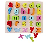 #5: Vivir™ Wooden Board Small Letters Alphabet Puzzles For Kids