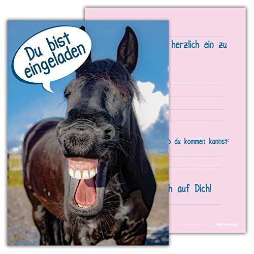 skarten Set Kindergeburtstag Pferde Himmel Wolke Wiese Einladung Geburtstag Party Schimmel niedlich (Tea-party-geburtstags-einladungen)